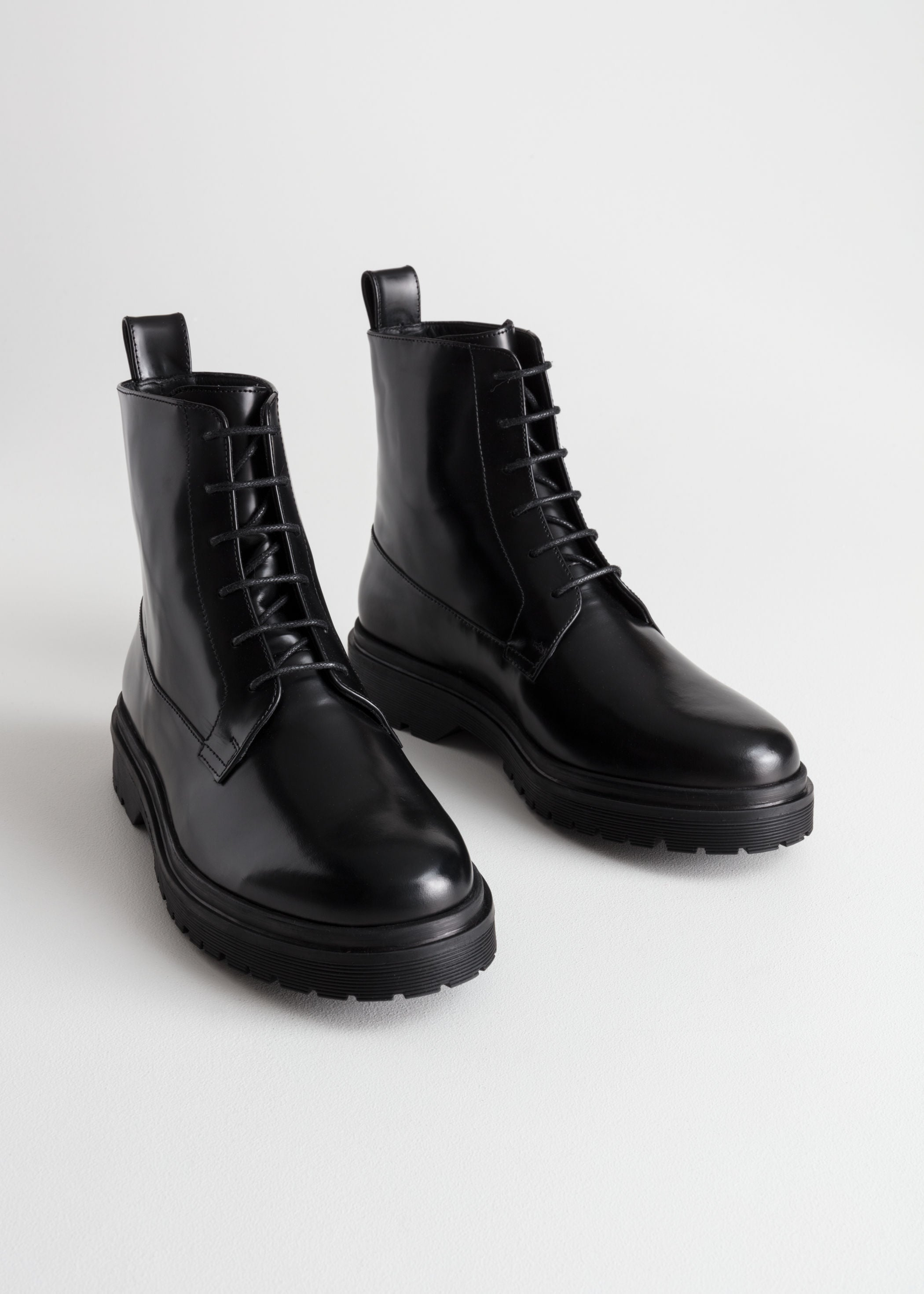 \u0026amp; Other Stories + Lace-Up Leather Boots