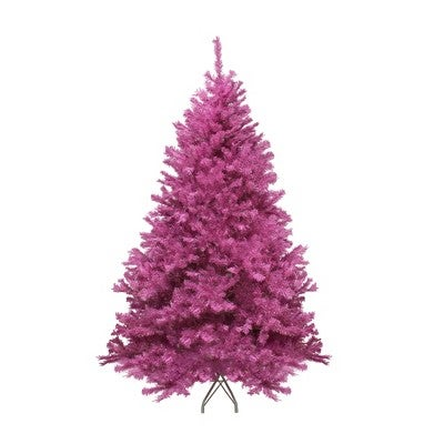 7.5' Unlit Artificial Christmas Tree Orchid Pink Cedar