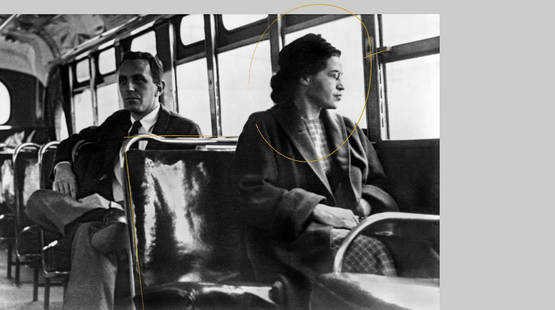 image of Rosa Parks sitting on bus