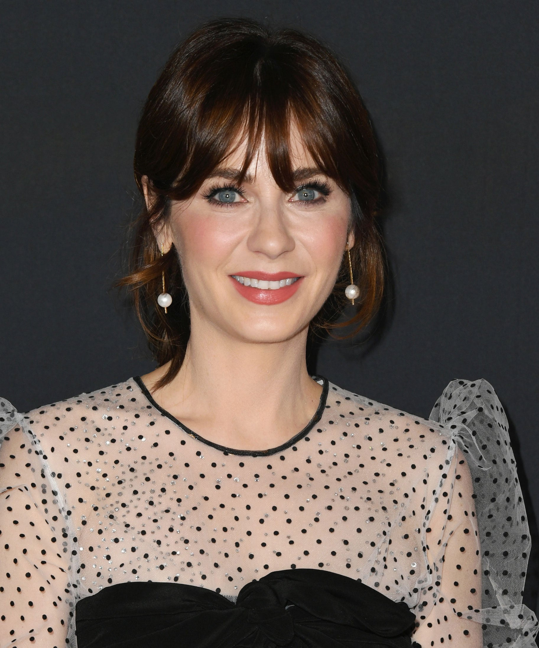 Zooey Deschanel Just Went Way Lighter With Her Hair Colour