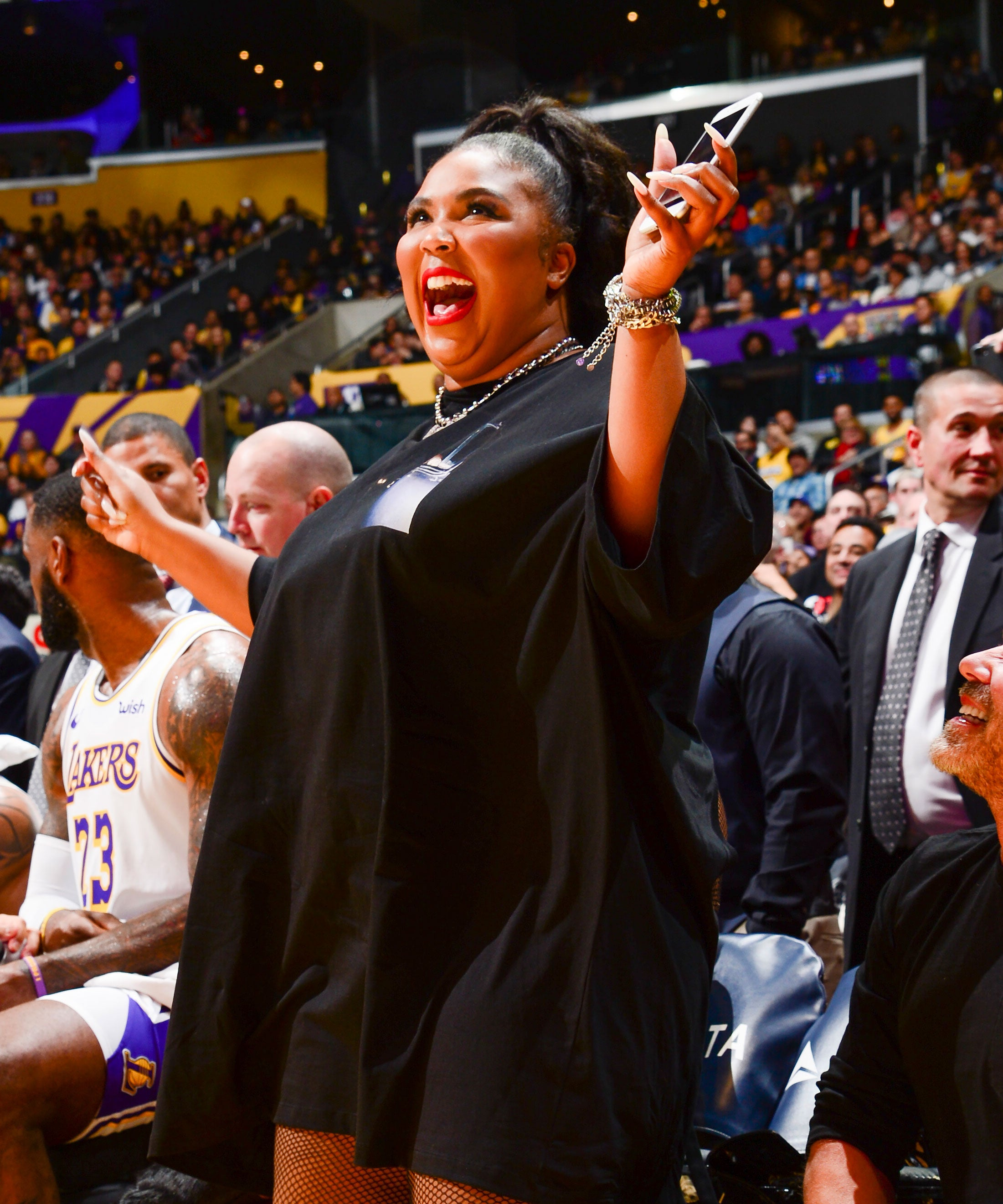 Lizzo Speaks Out About Her Thong At The Lakers Game