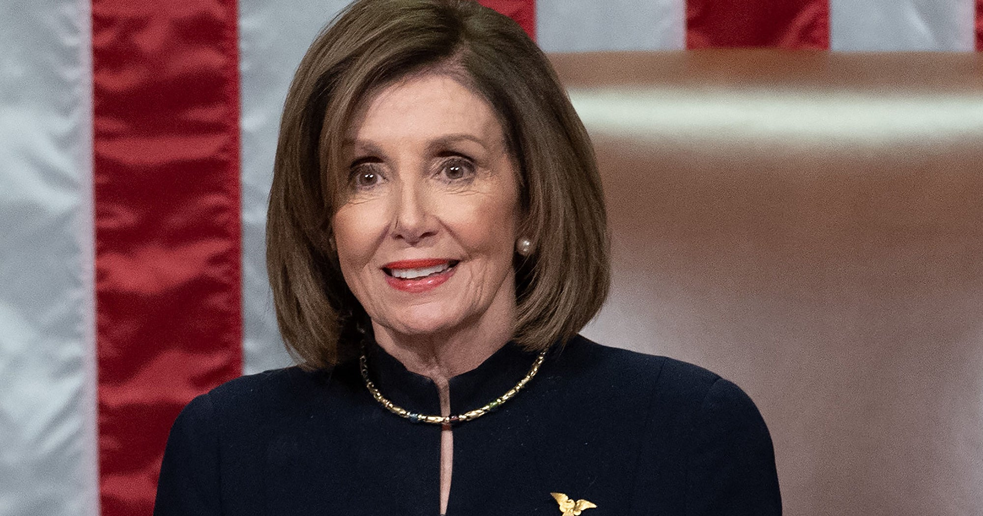 Image result for nancy pelosi black dress
