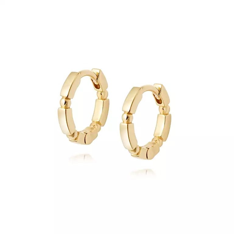 Stacked Huggie Hoops 18ct Gold Plate