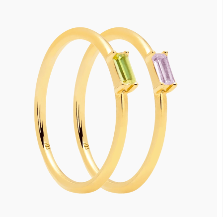 Apple & Purple Gold Rings Pack