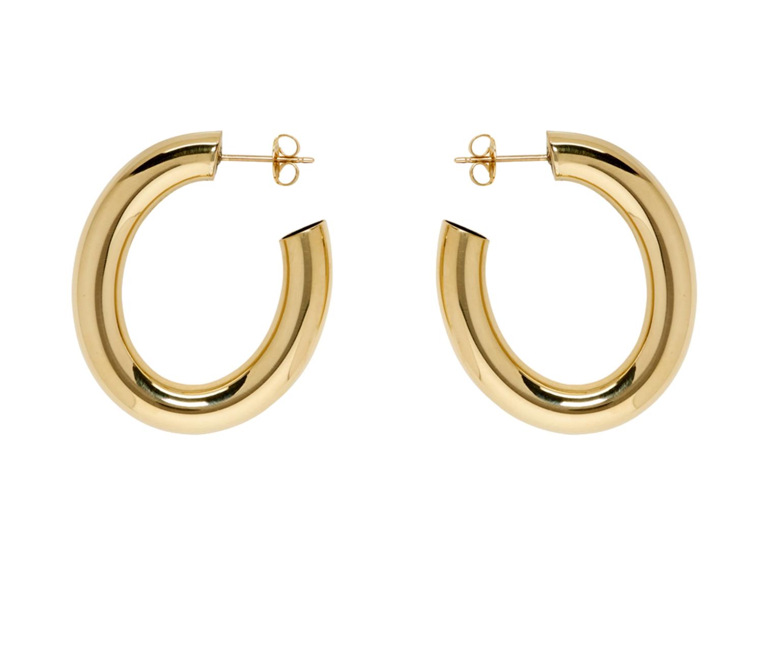 Gold Mini Curve Earrings
