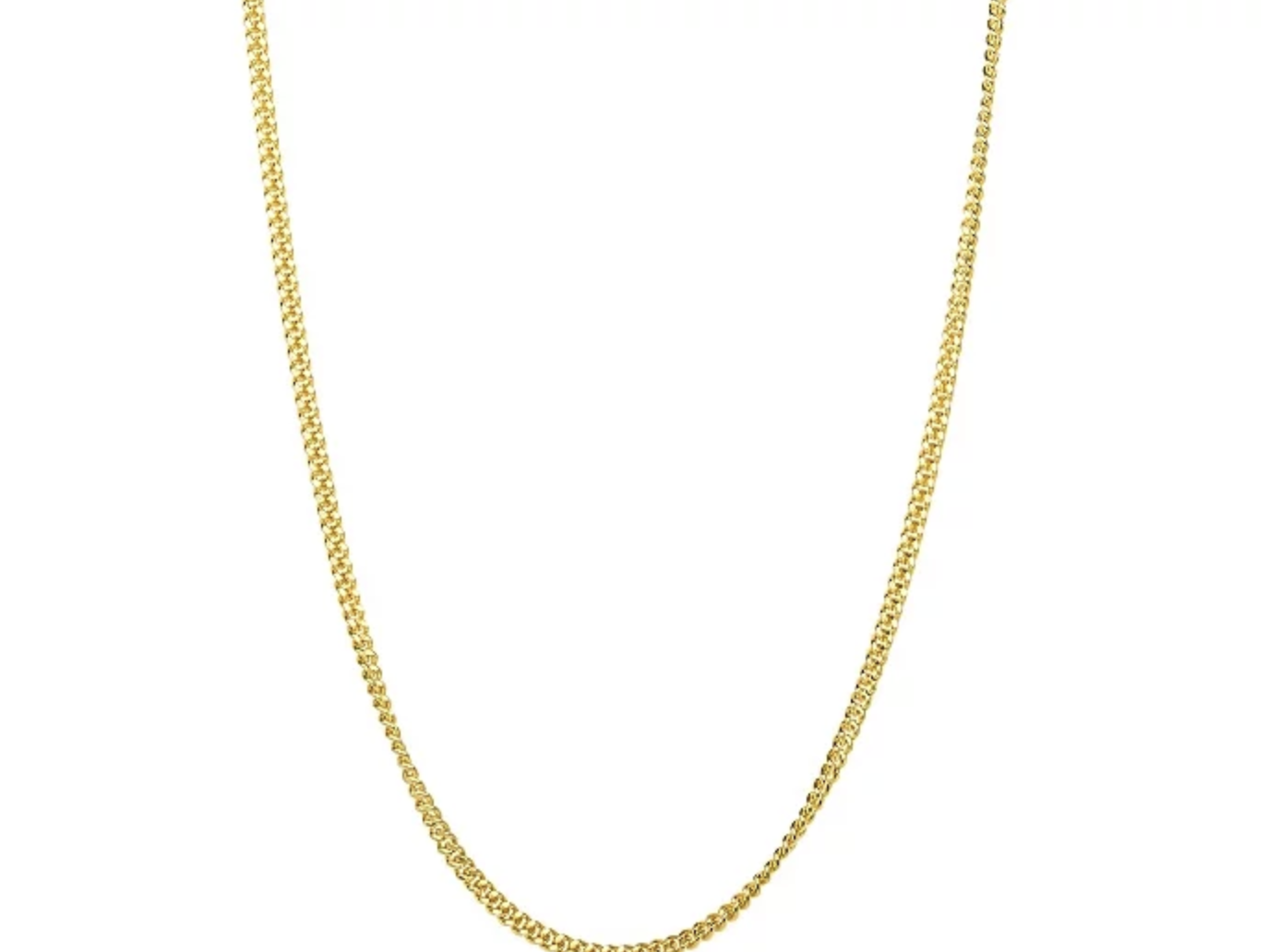 Gold Plated Yellow 16 Inch Chain