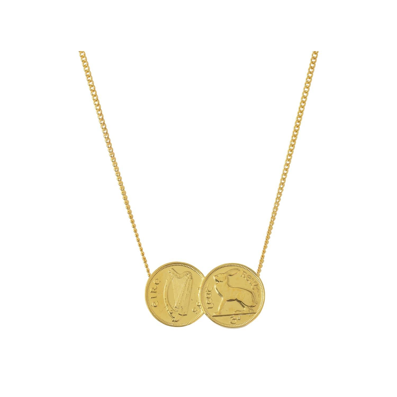 Double Irish 5p Coin Pendant