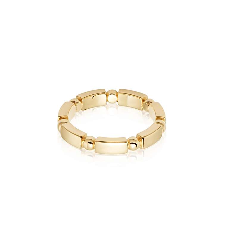 Stacked Chunky Ring 18ct Gold Plate