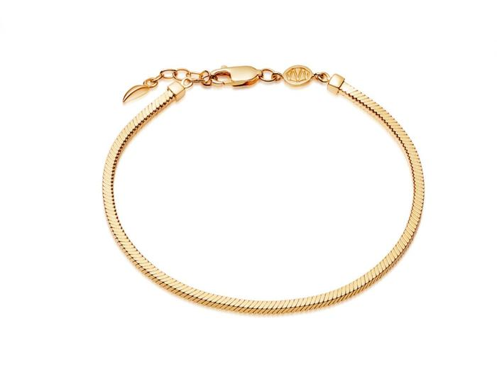 Lucy Williams Gold Square Snake Chain Bracelet