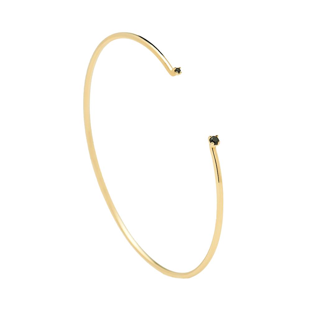 Black Bloom Gold Bracelet