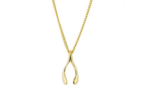 Gold 9 Carat Tiny Wishbone