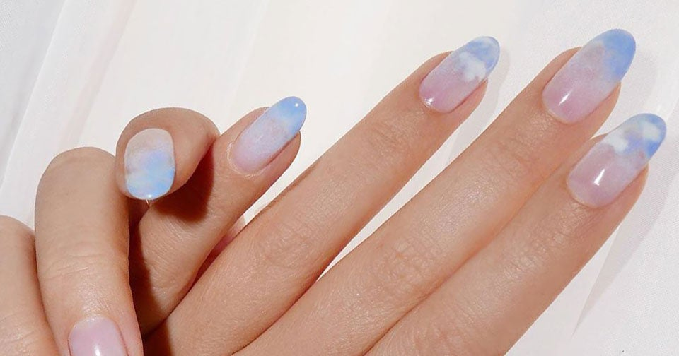 Cloud Nails Are Trending For Winter — & They're So Dreamy
