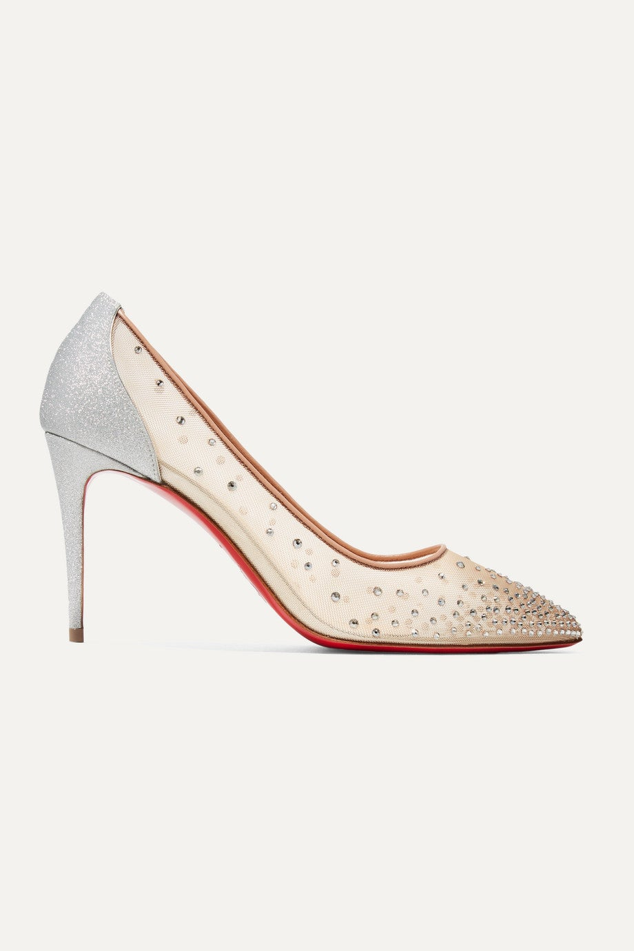 Eva Chantilly Lace With Blue Sole Wedding Bridal Shoes By Bella