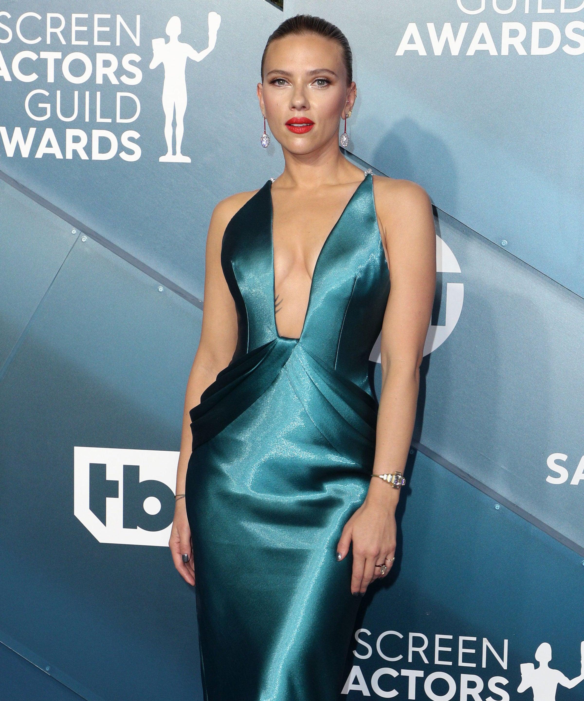 Scarlett Johansson's Sleek SAG Awards Updo Shows Off Her Massive Back Tattoo