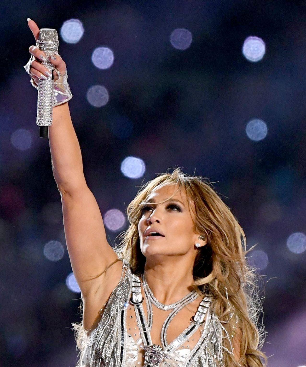 Jennifer Lopez 2020 Super Bowl Pictures