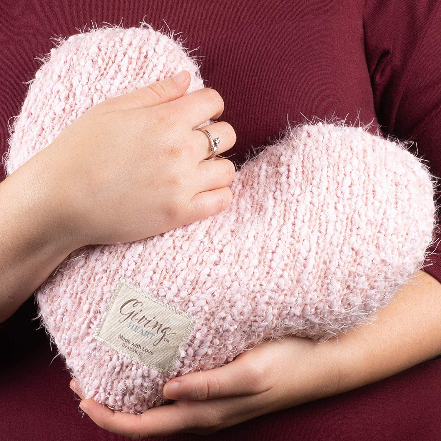ALL SIZES $29 VALENTINE CRYSTAL HEART TERAZZO WOMEN/'S 100/% COTTON KNIT SWEATER