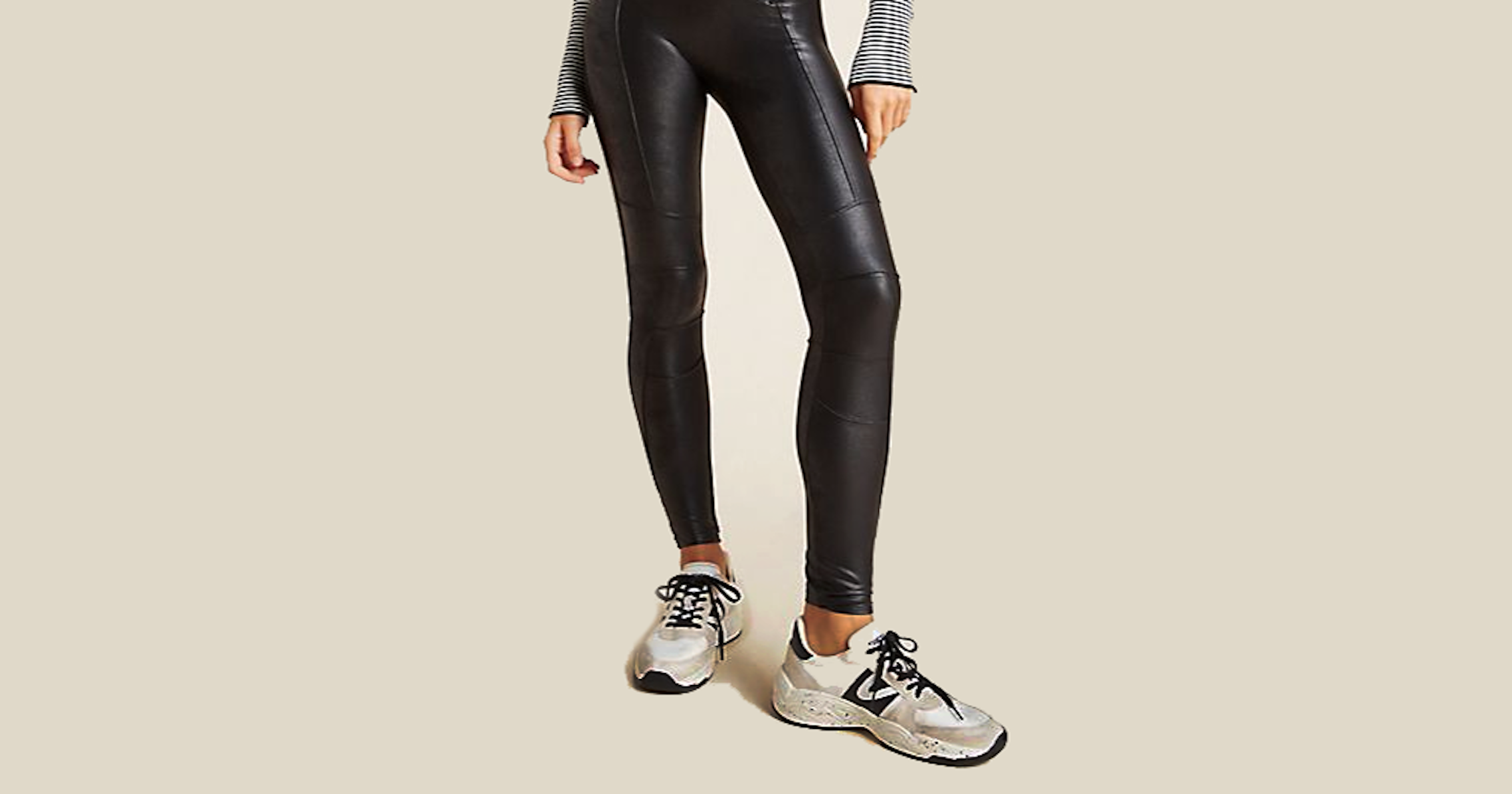 Styling Tips For Black Leather Leggings On A Scale Of Simple To Surprising