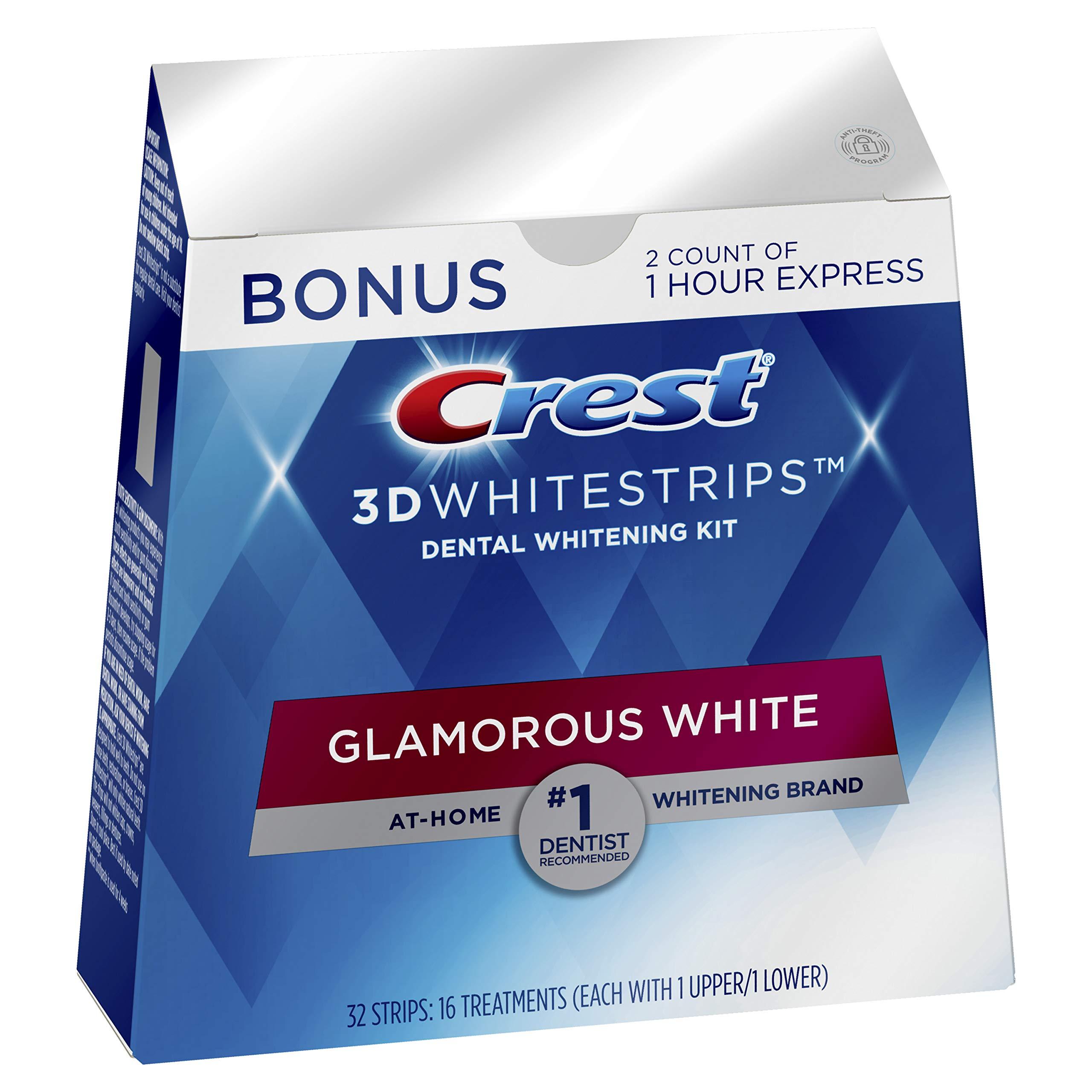 Crest 3D Whitestrips Glamorous White, Kit de blanchiment des dents