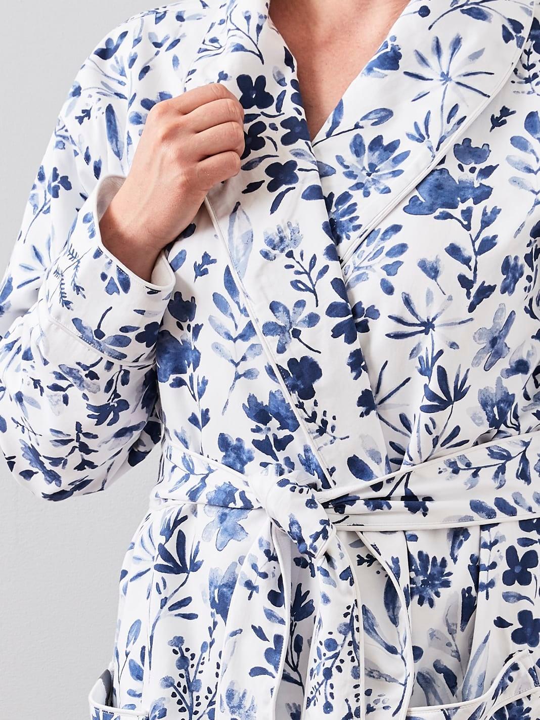 Large Black Men/'s Bathrobe Lightweight Soft 100/% Cotton Summer Spa Robe Pool L