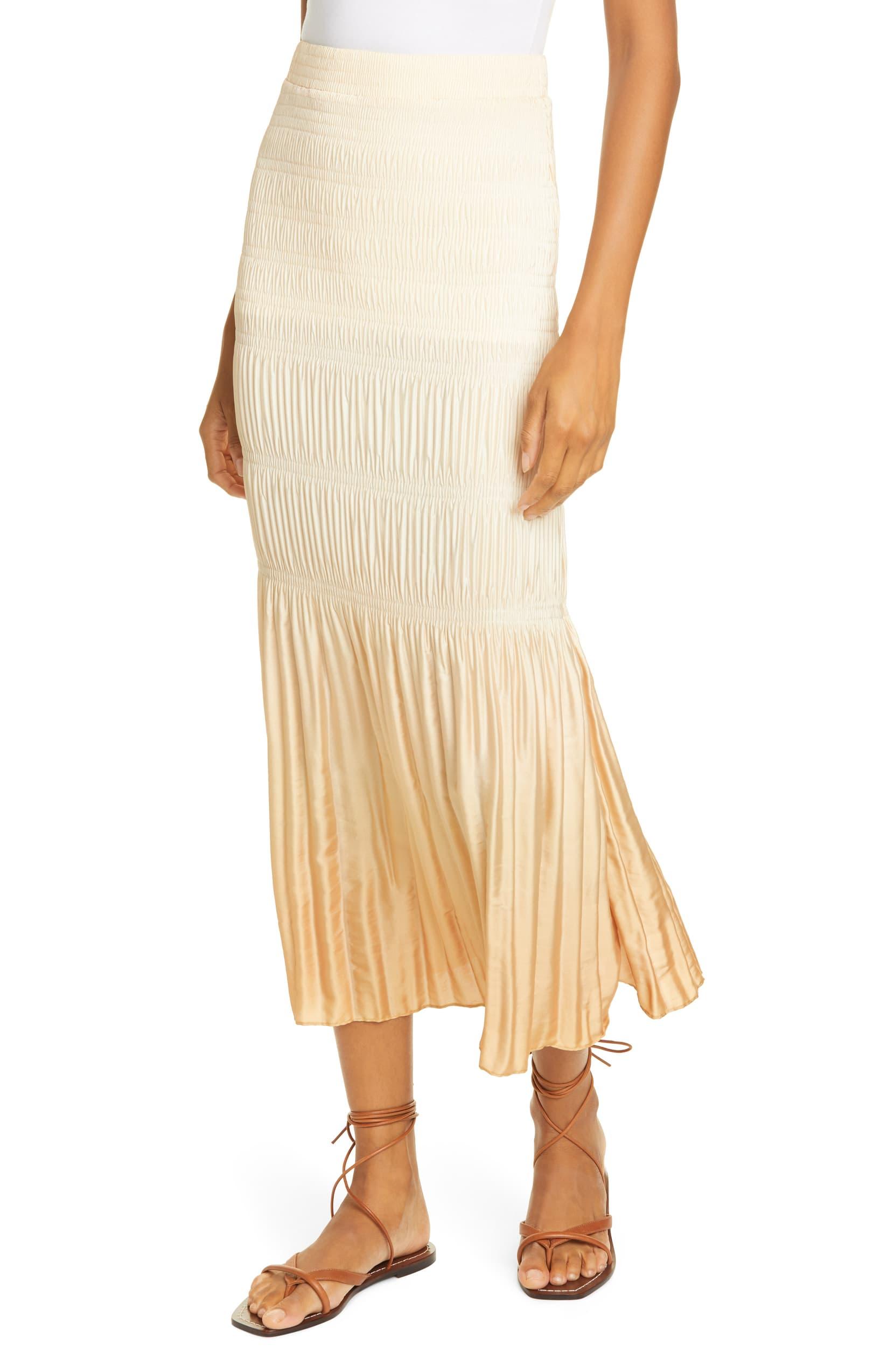 Joan Dip Dye Smocked Midi Skirt