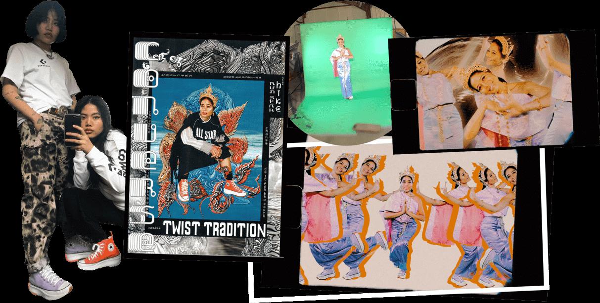 Large Fa & Fon collage