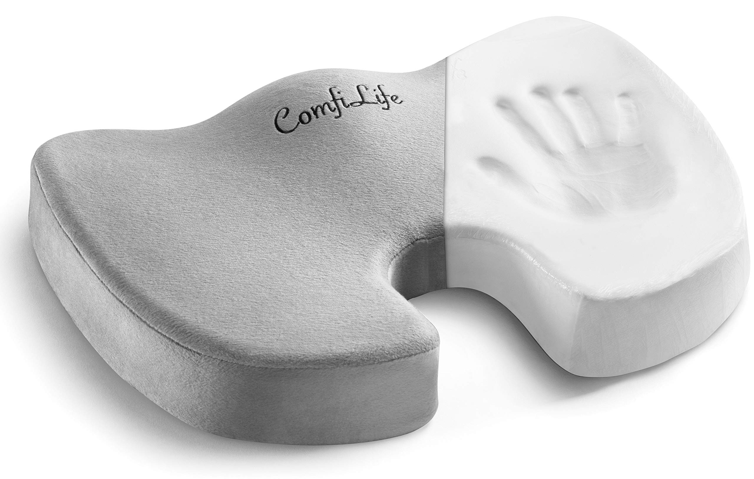 ComfiLife Orthopedic 100% Memory Foam Coccyx Seat Cushion
