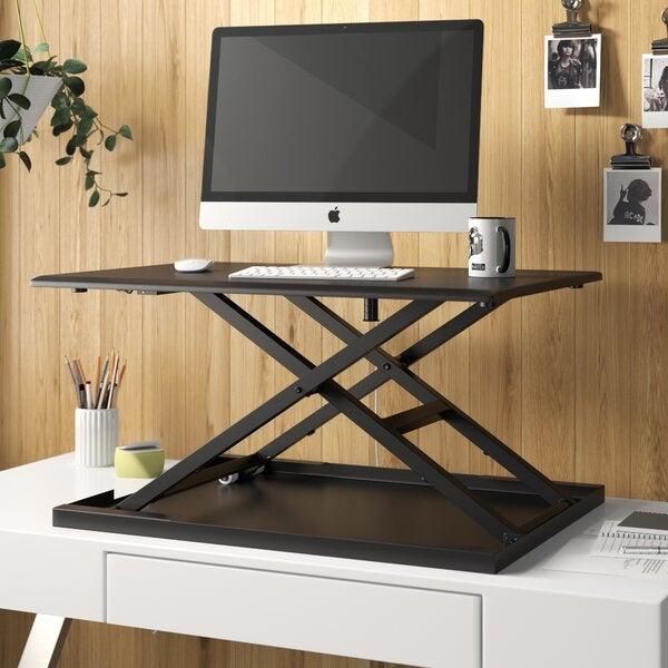 Symple Stuff Westbury Pneumatic Height Adjustable Standing Desk Converter
