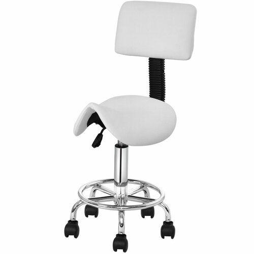 Symple Stuff Wanette Height Adjustable Saddle Salon Stool with Dual