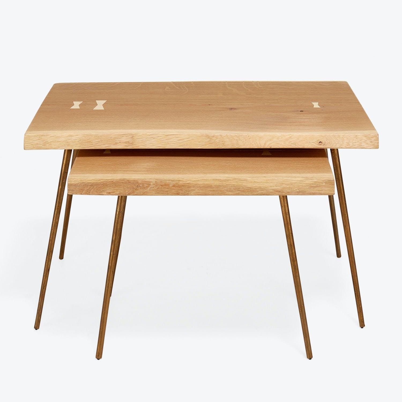 Core Light Oak Nesting Tables