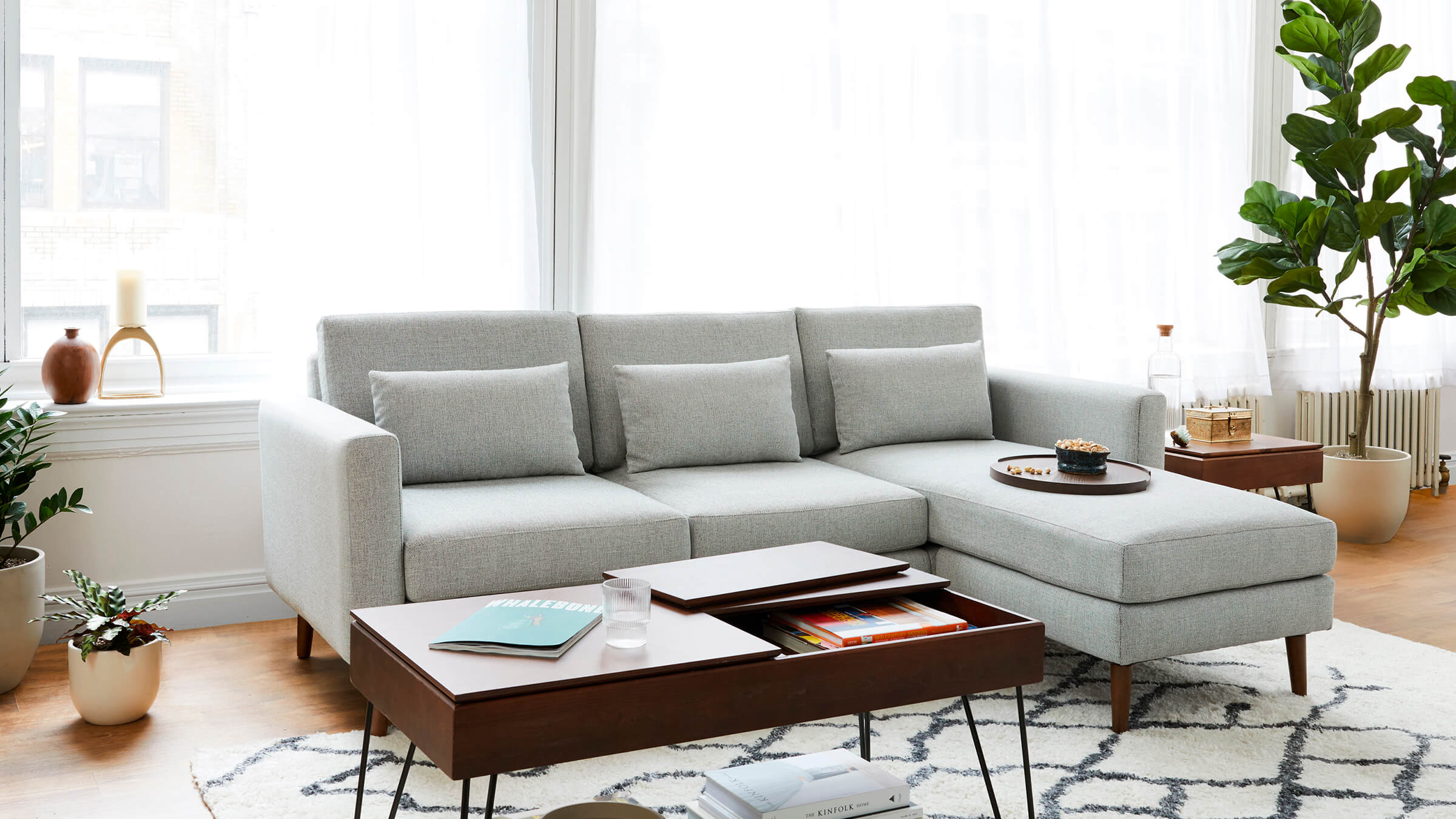 Slope Nomad Double Chaise Sectional