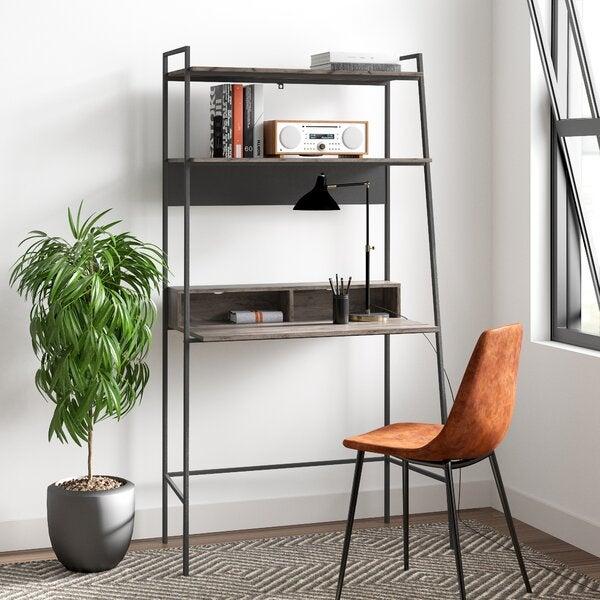 Gray Wash Eddy Leaning/Ladder Desk