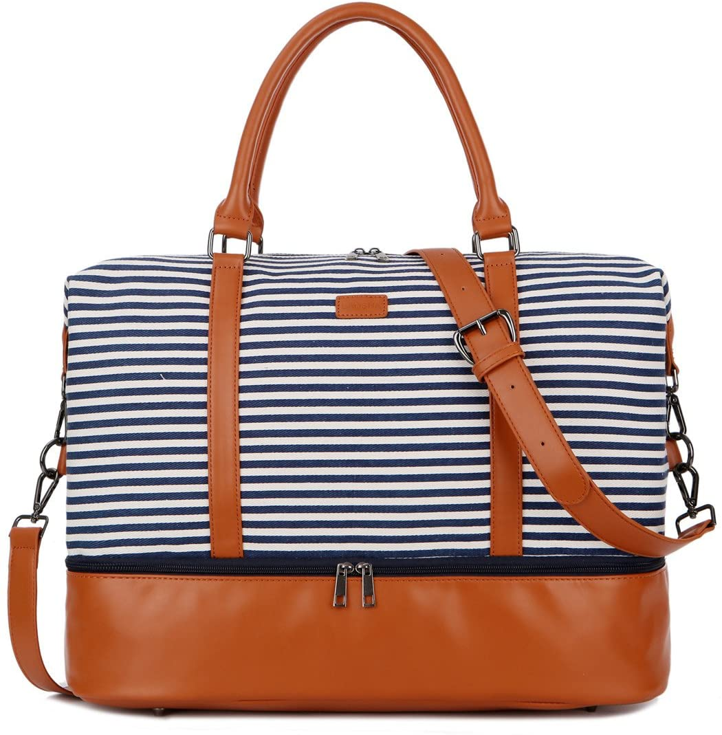 Baosha Canvas Weekender Bag With Shoe Compartment