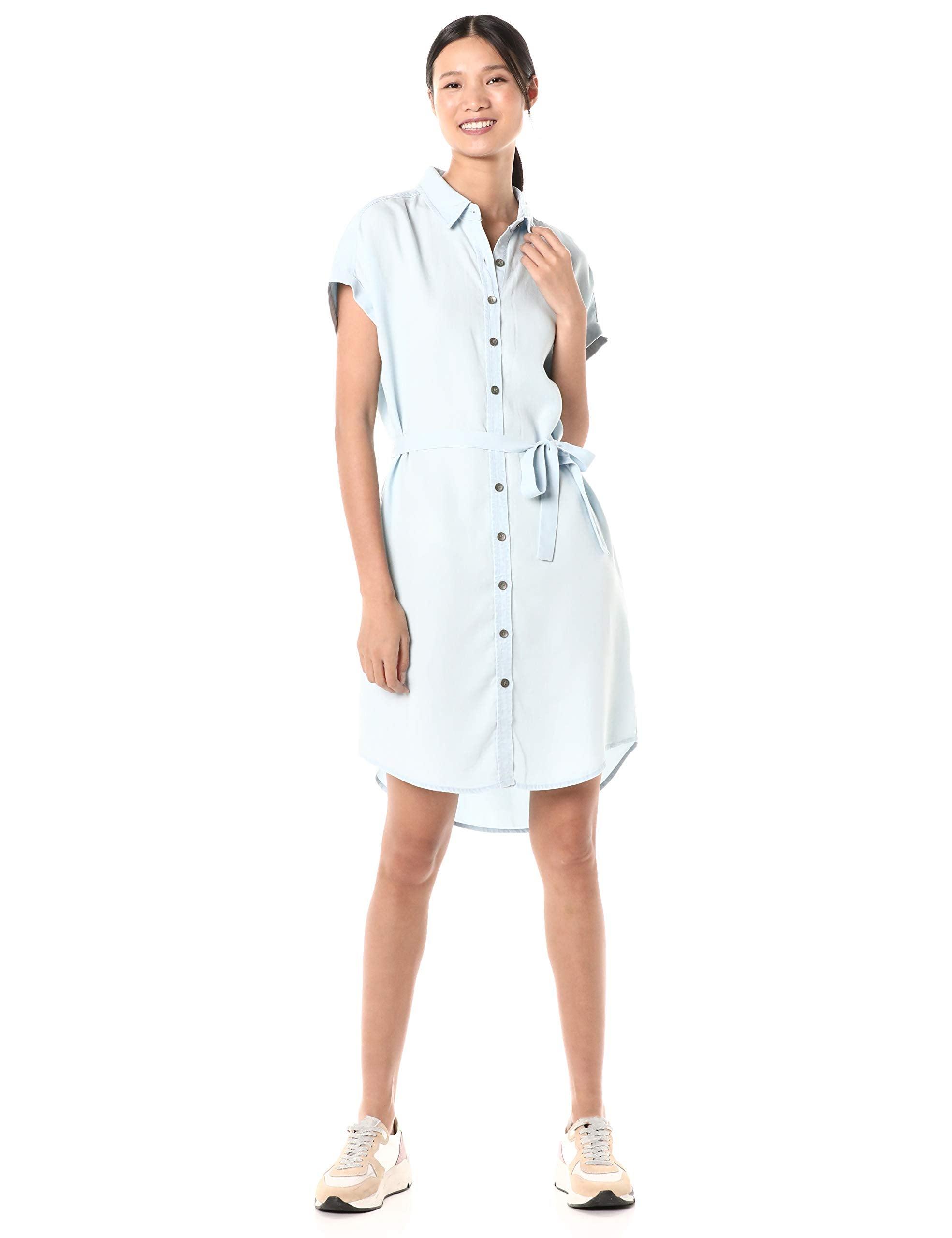 Goodthreads Tencel Short-Sleeve Shirt Dress