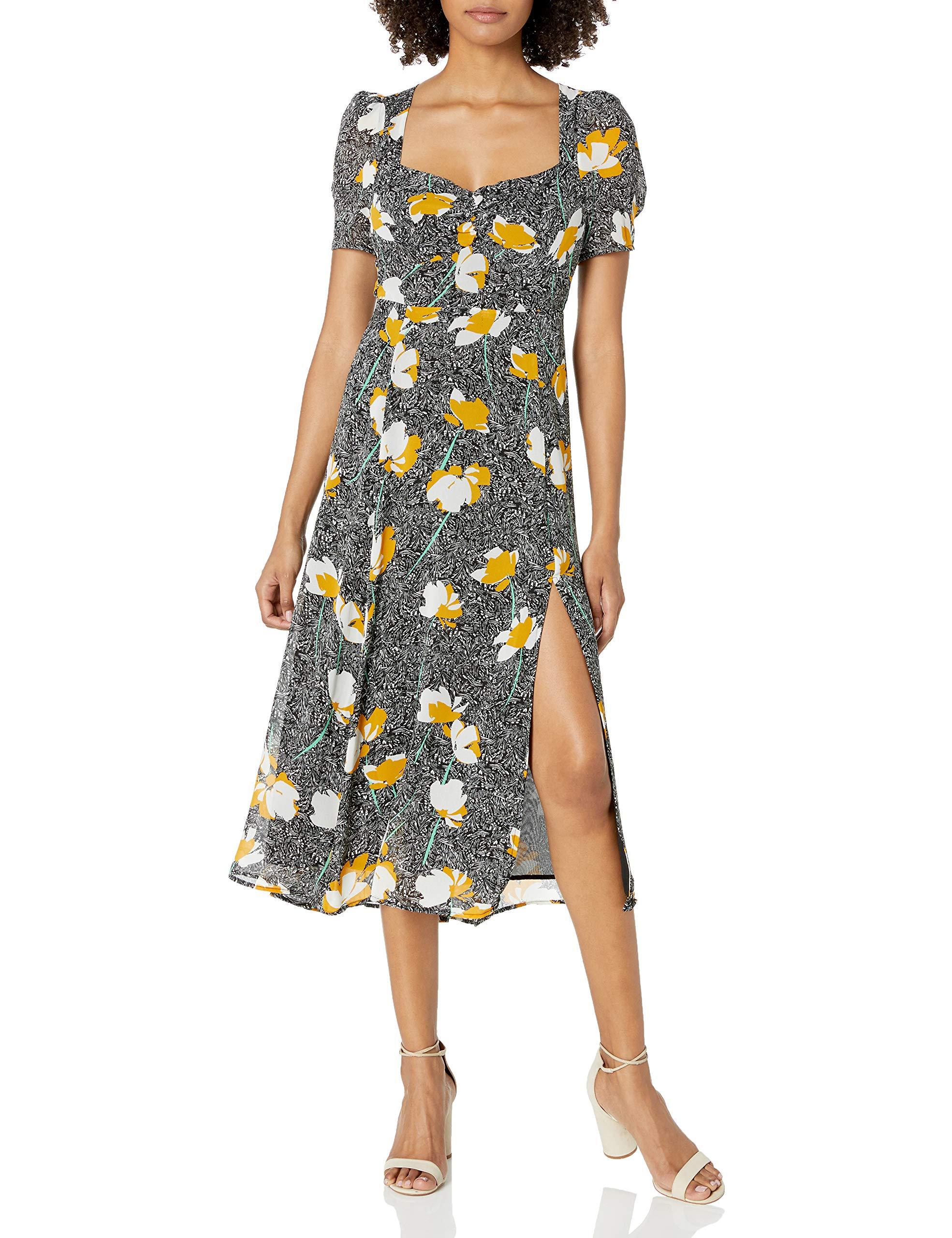 Astr The Label Short Sleeve Zenn Midi Dress