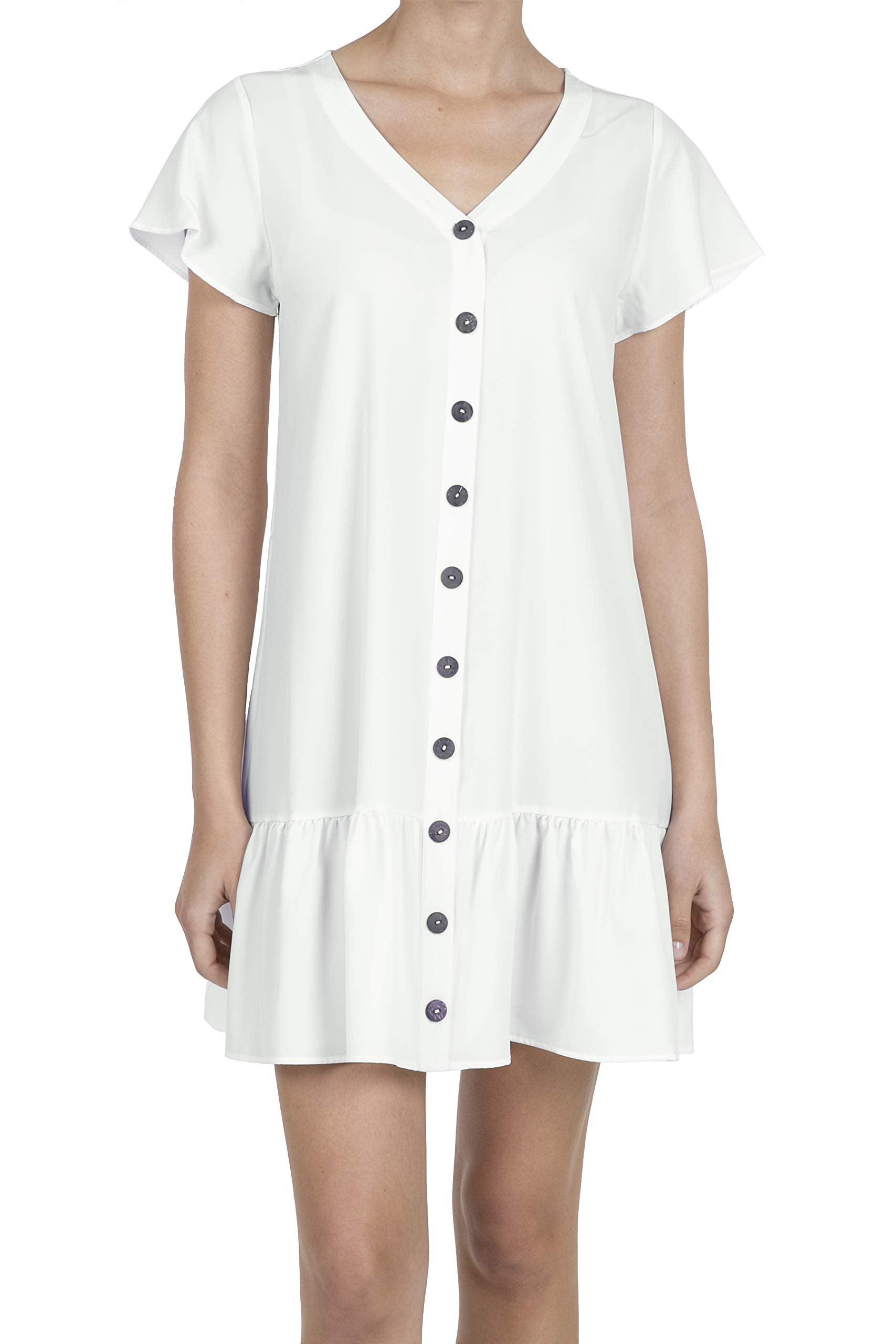 iliad USA Store Button Design Tunic Dress