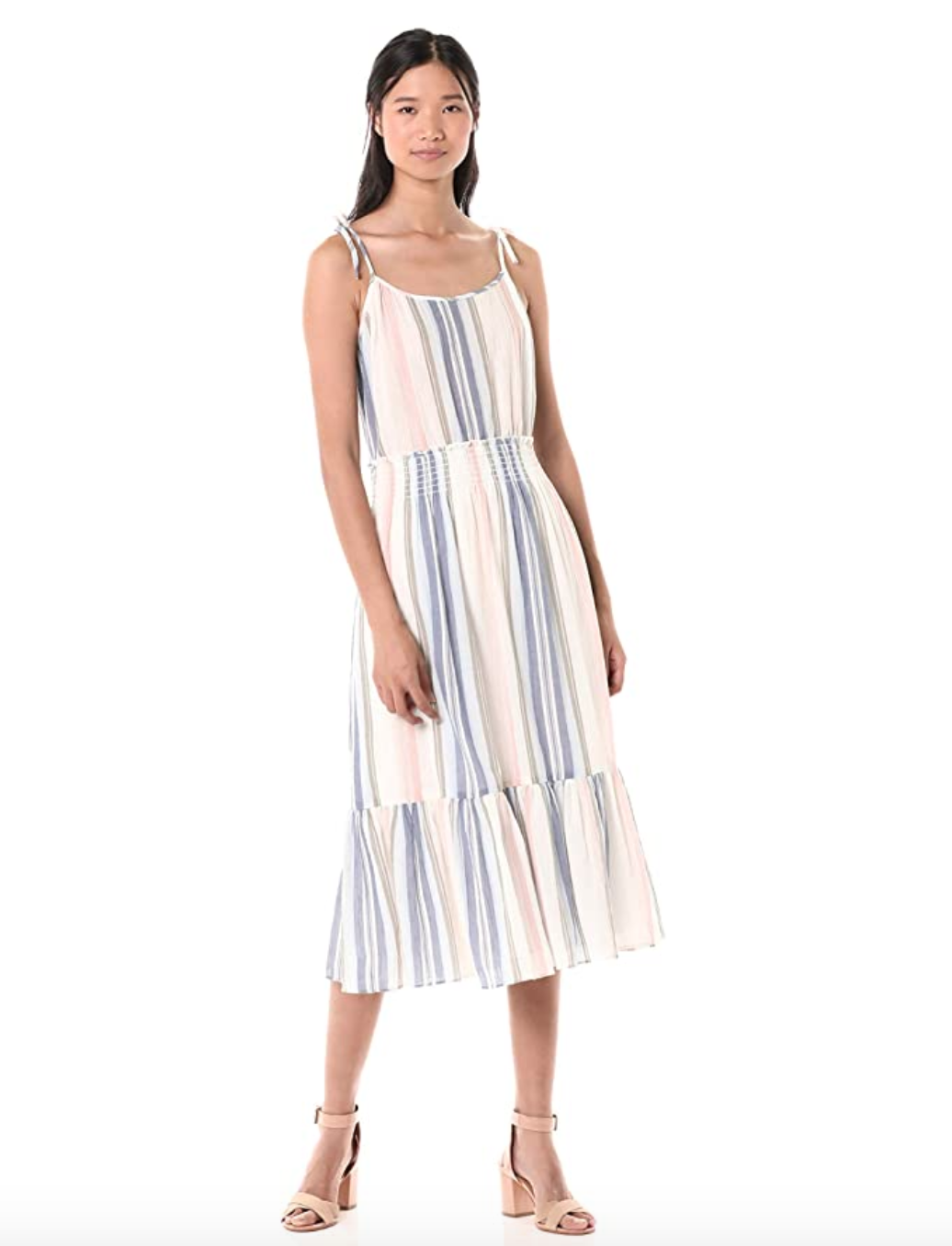 Michael Stars Sia Prairie Stripe Sleeveless Dress