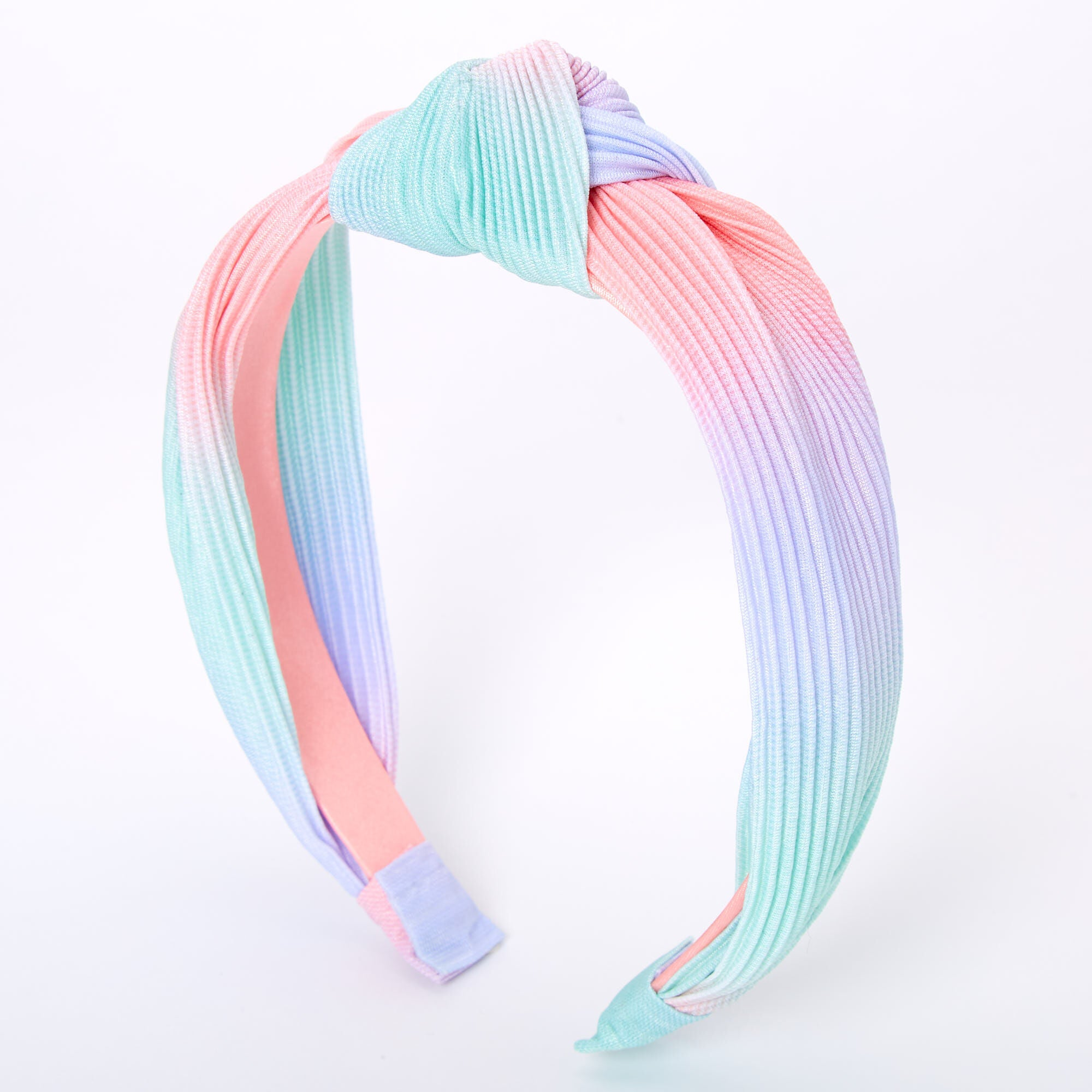 Claire's Pleated Pastel Ombre Knotted Headband