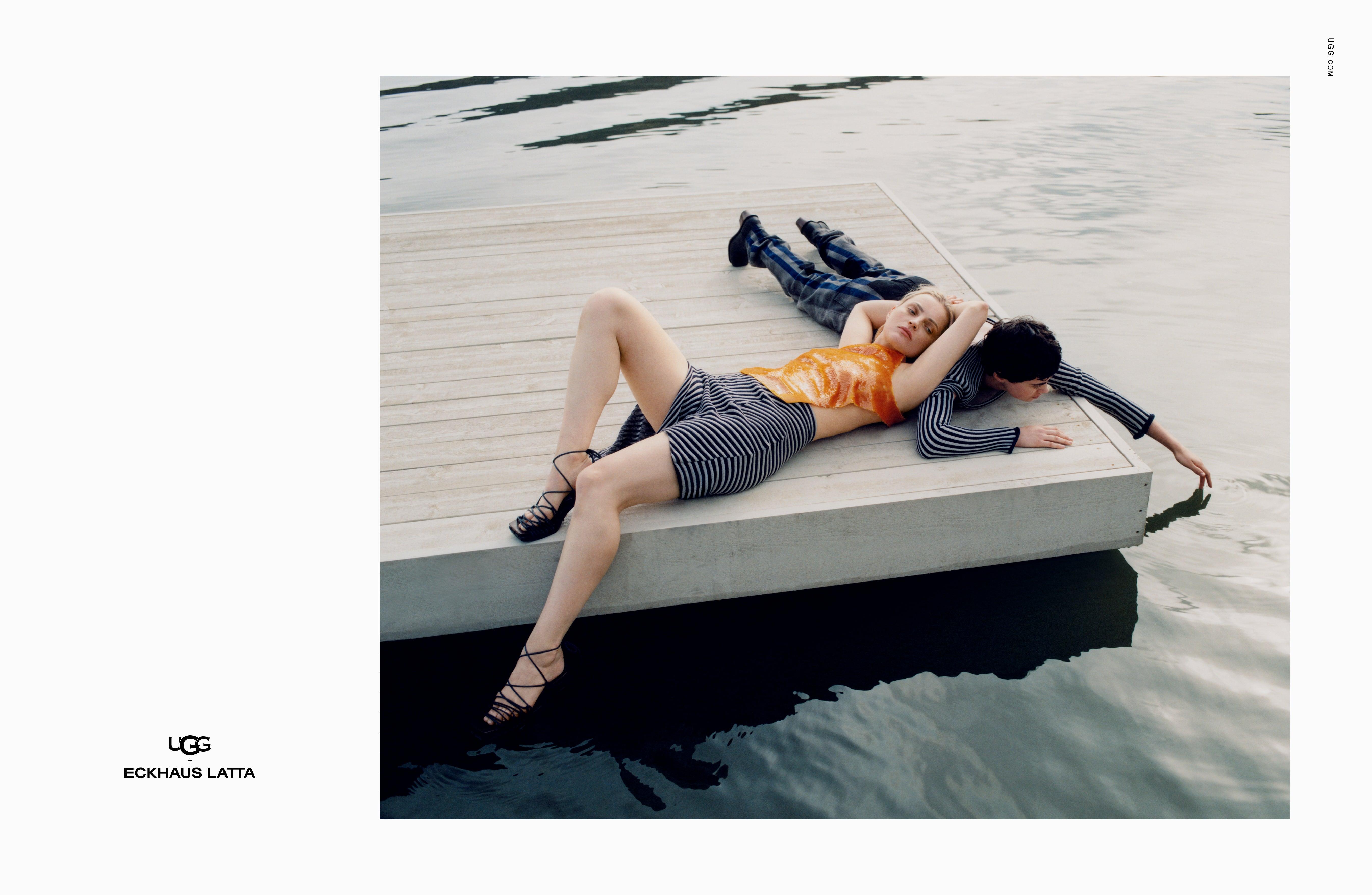 Eckhaus Latta x Ugg Lace On Lace Sandal