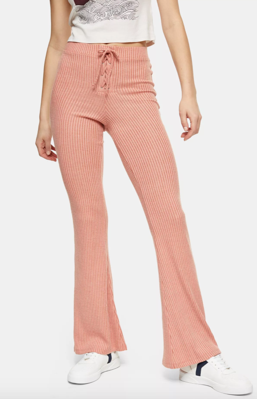 Top Shop Lace Up Flare Pants
