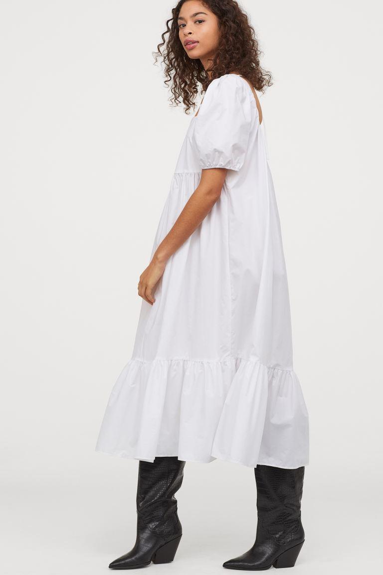 H&M + Cotton Poplin Dress