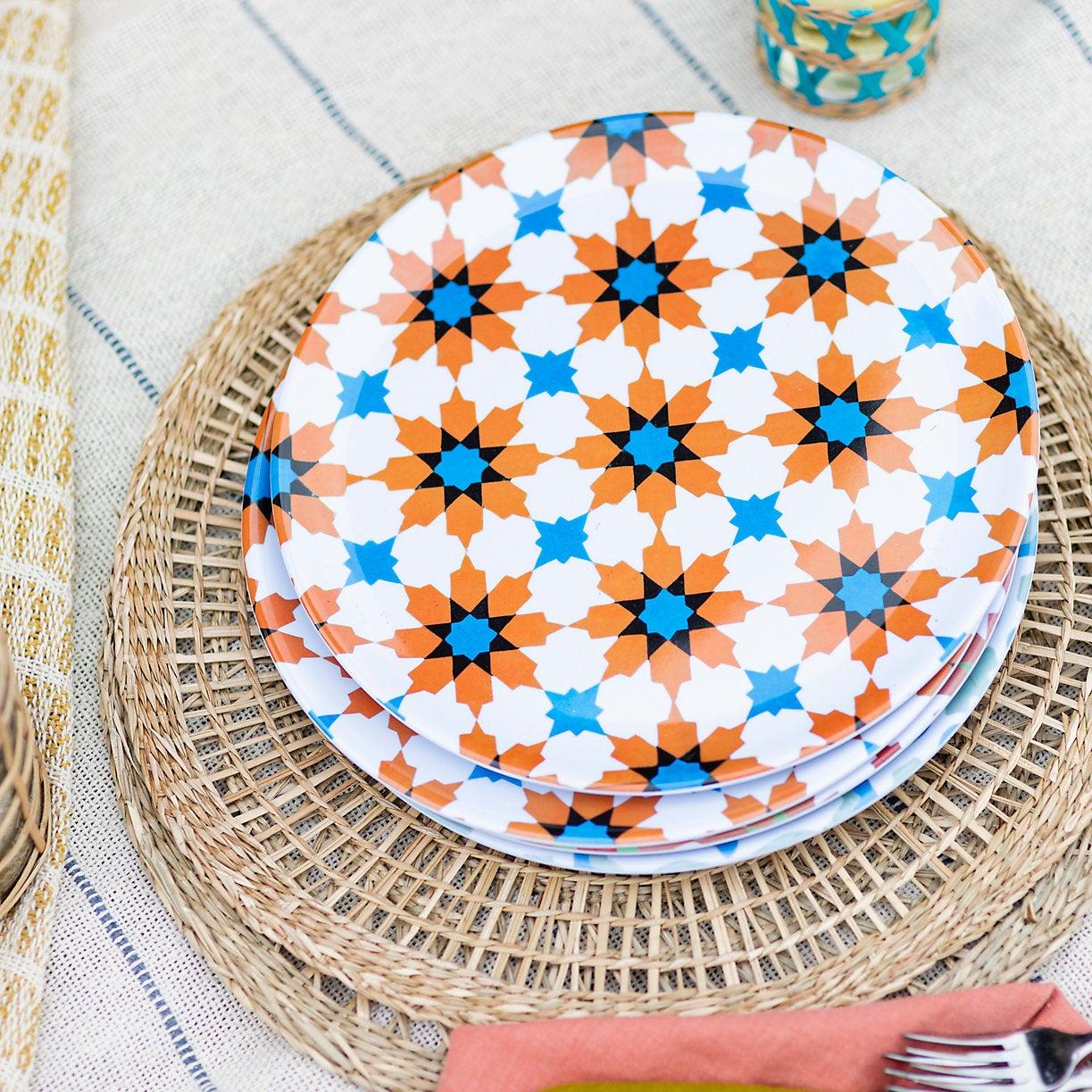 Tile Print Melamine Plate