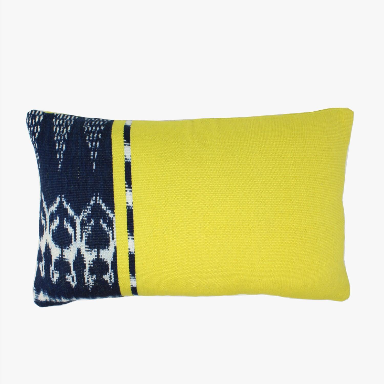 Citron Ikat Lumbar Pillow Cover
