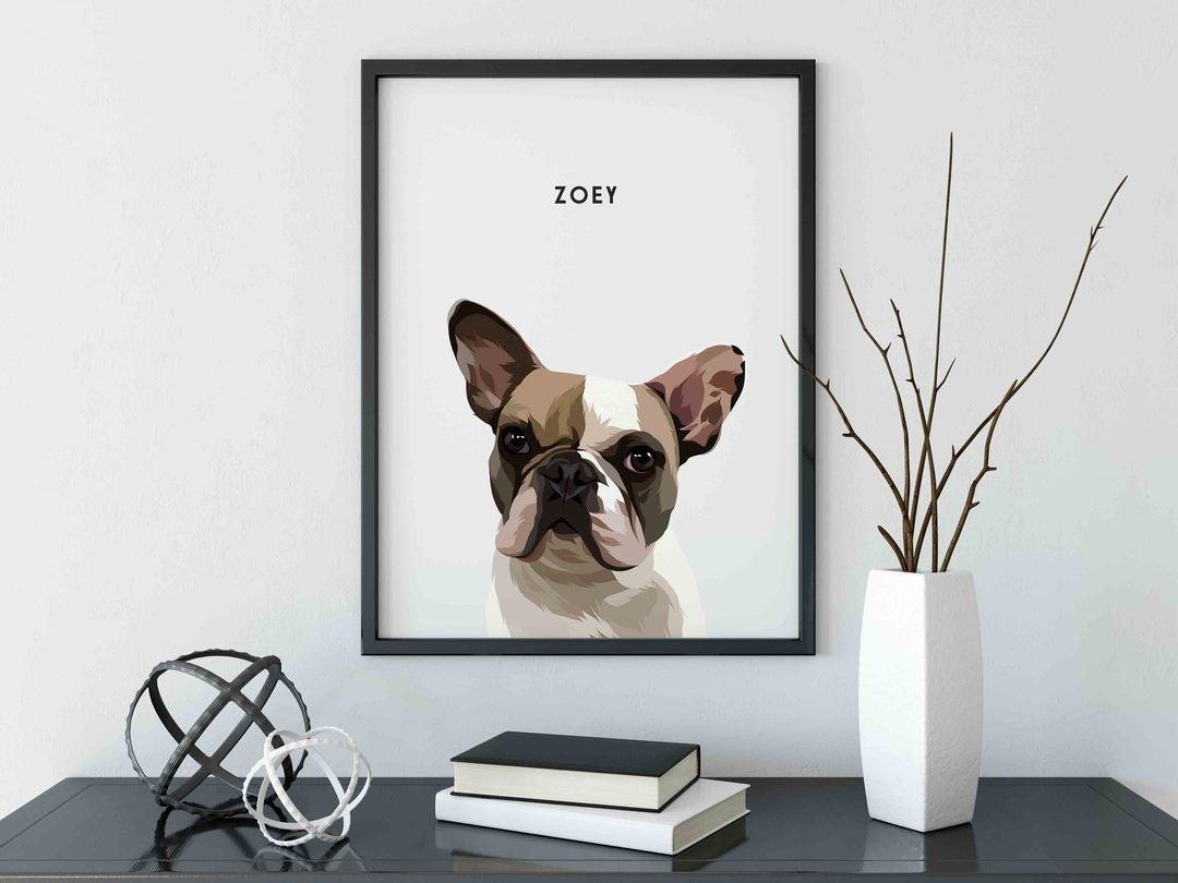 Custom Pet Portraits (Framed)