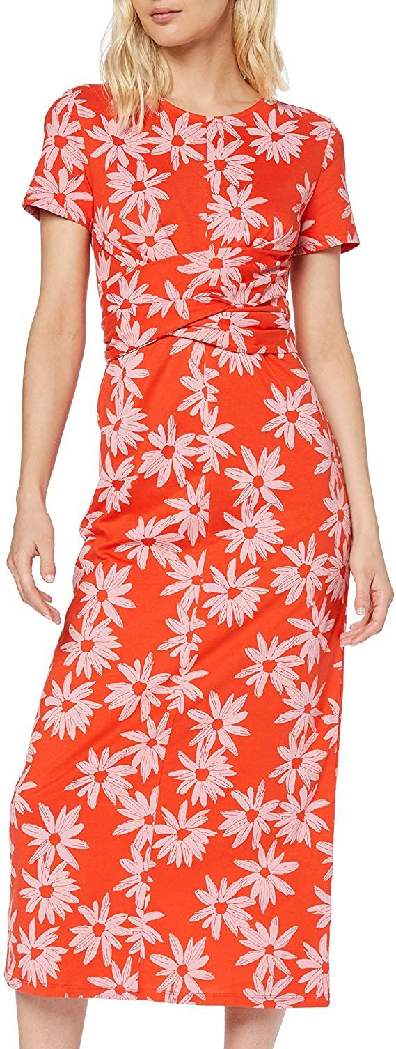 find. Tie Waist Cotton Dress