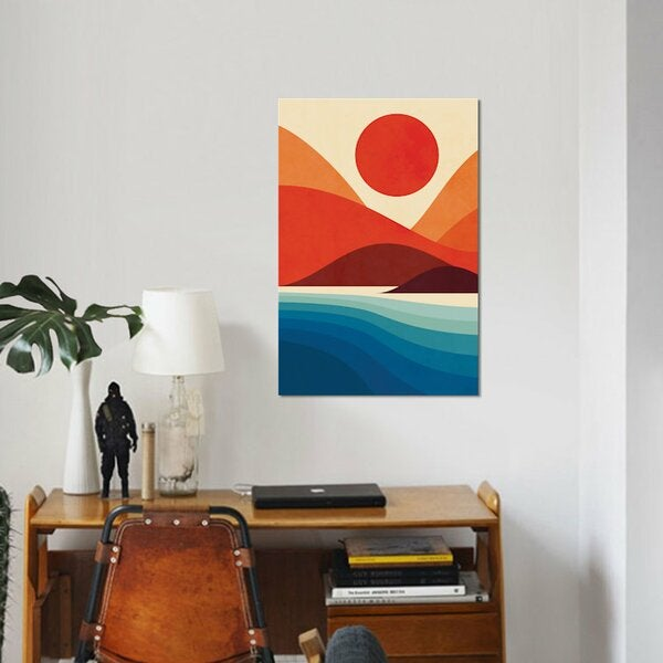 'Seaside' - Wrapped Canvas Graphic Art Print