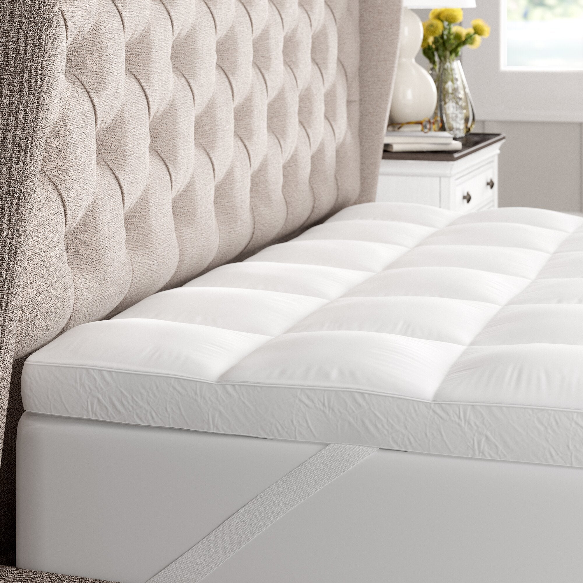 """Trahan 3"""" Down Alternative and Polyester Mattress Toppe"""
