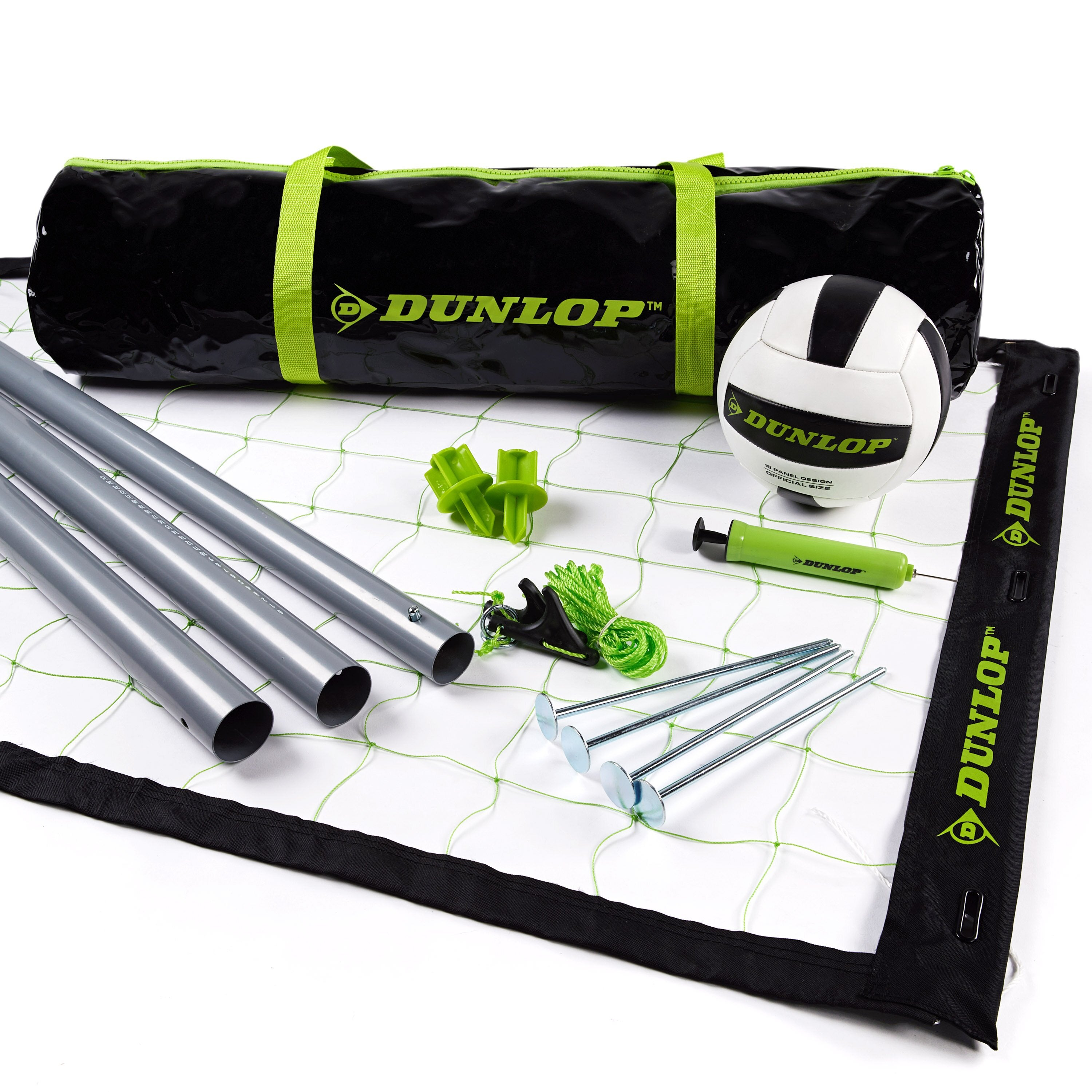 Regulation Outdoor Volleyball Set with Steel Poles