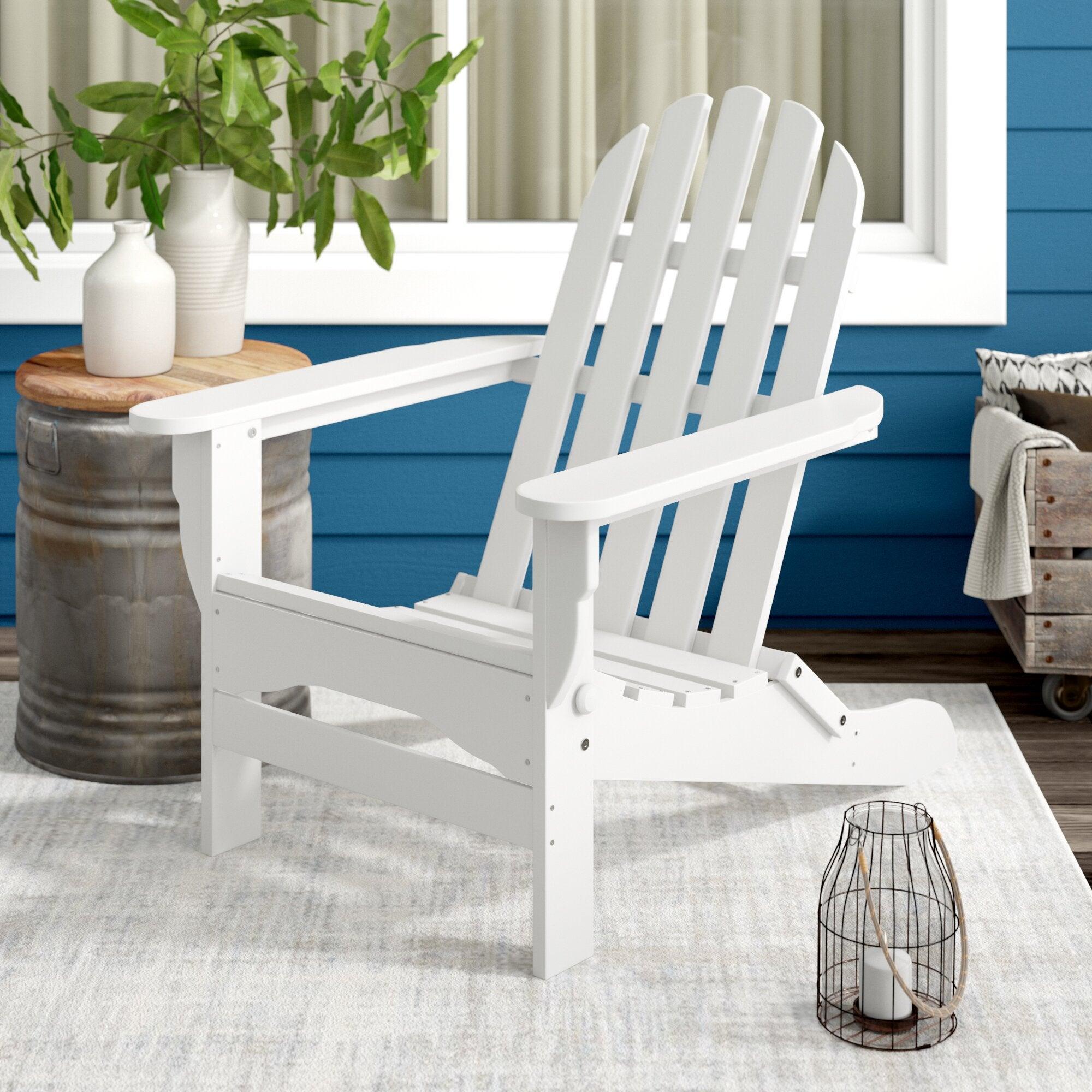 Hartington Plastic Folding Adirondack Chair