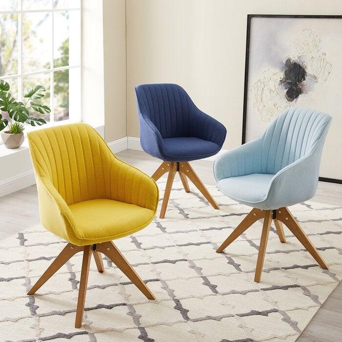 Corrigan Studio Brister Swivel Side Chair