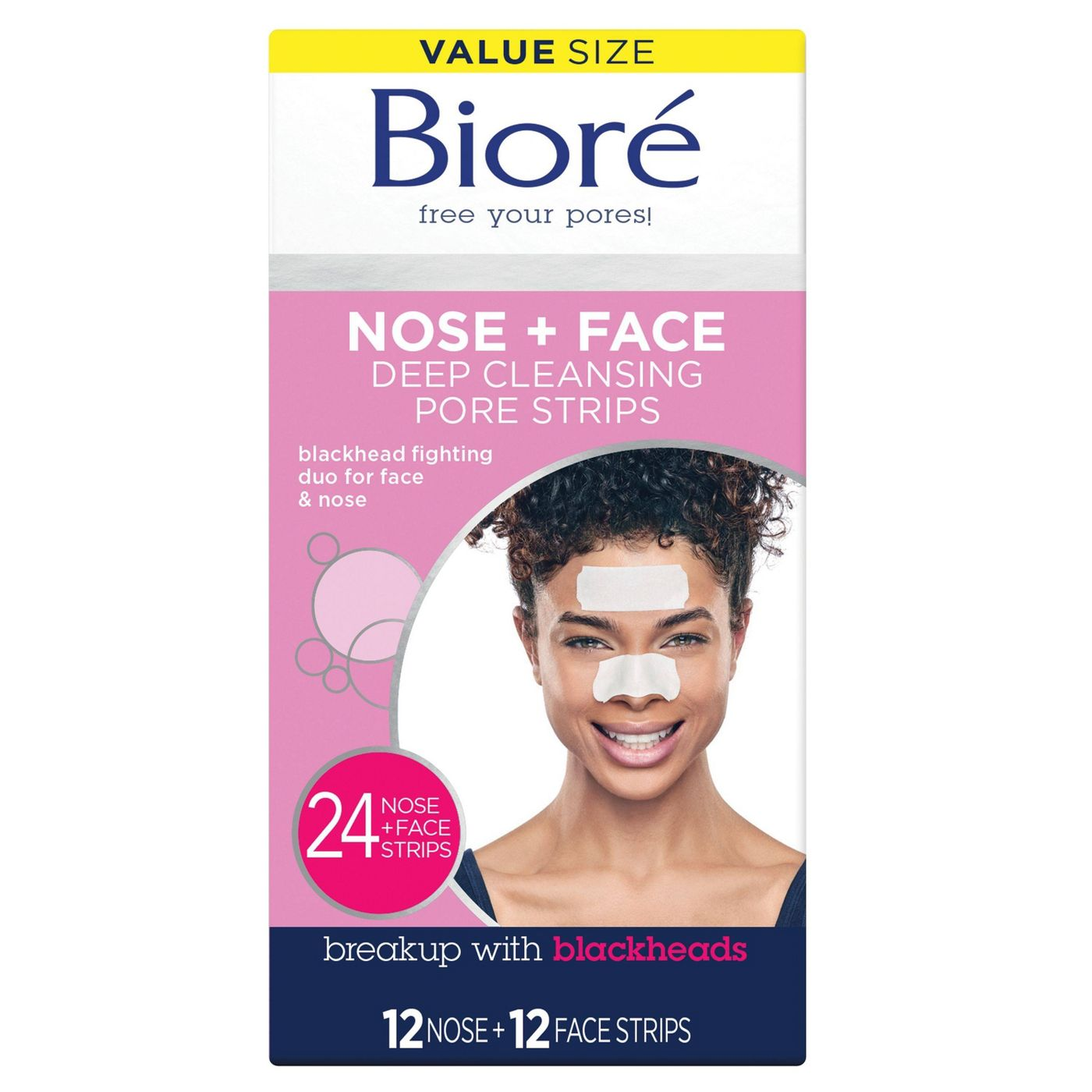 Nose + Face Deep Cleansing Pore Strips - 24ct